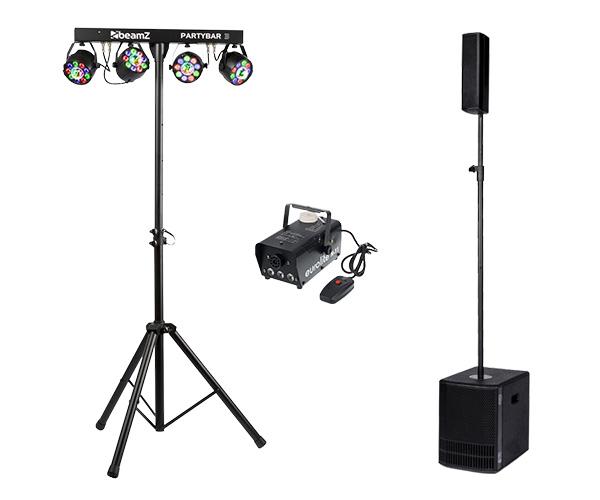Ljudsystem med en bashögtalare och en topphögtalare